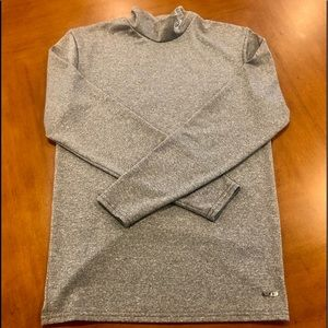 Champion Duo Dry Gray Mock Neck L/S Workout Tee